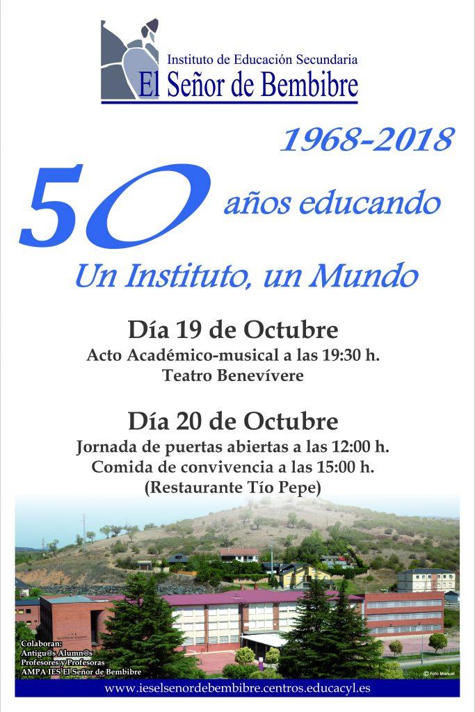 Ies Señor De Bembibre 50 Aniversario Agenda Del Bierzo