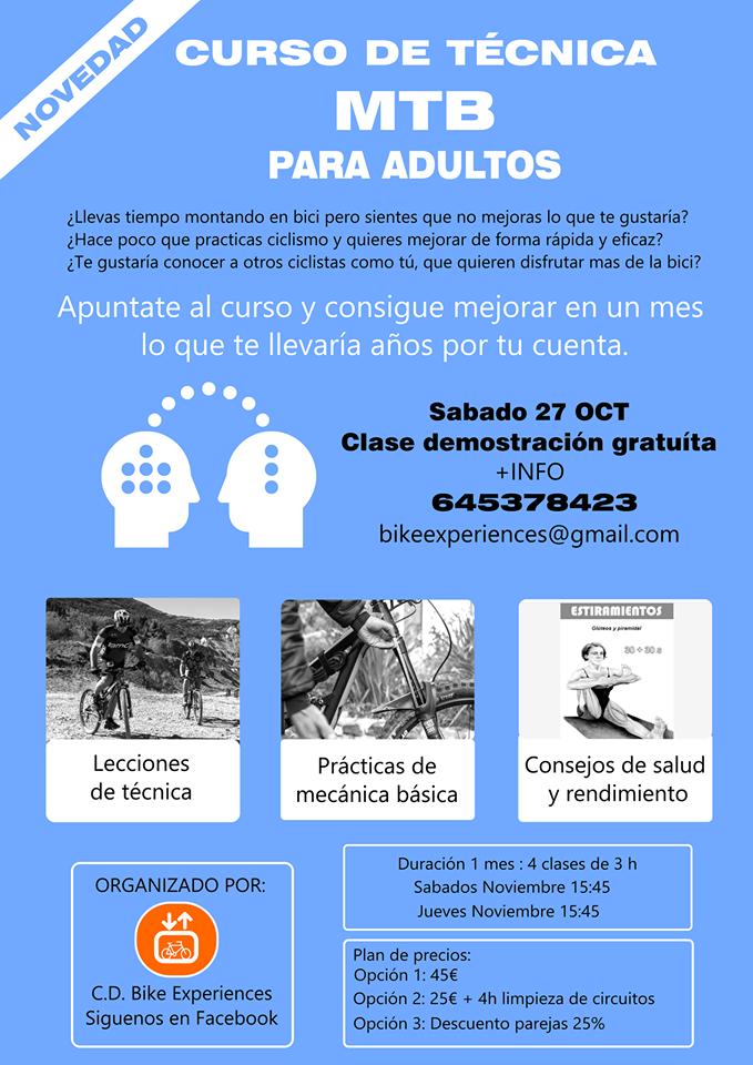 curso de técnica mtb adultos bike experiences camponaraya
