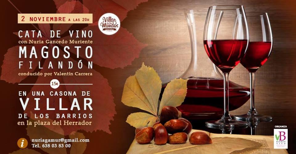 Magosto cata vinos Villar de los Barrios