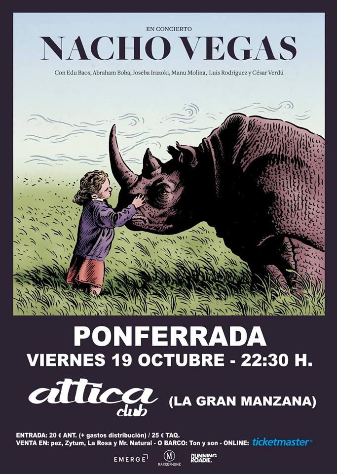 Nacho vegas concierto Ponferrada Attica Club