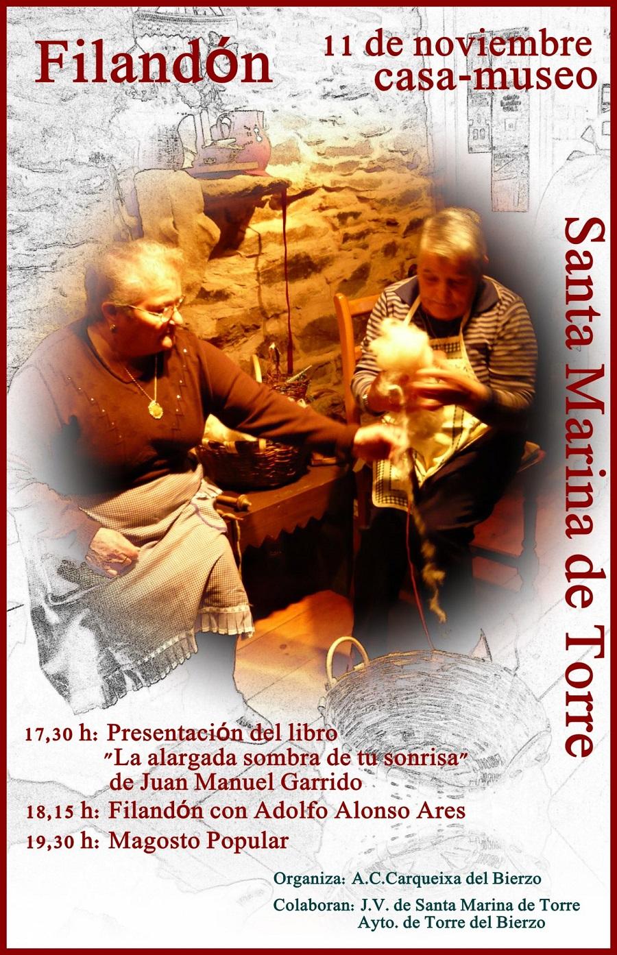 Santa Marina de Torre filandon, presentacion literaria y magosto
