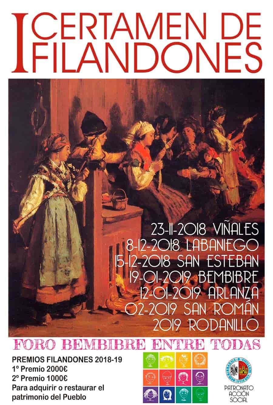 cartel certamen de filandones por las pedanias de bembibre foro de mujeres de bembibre el bierzo