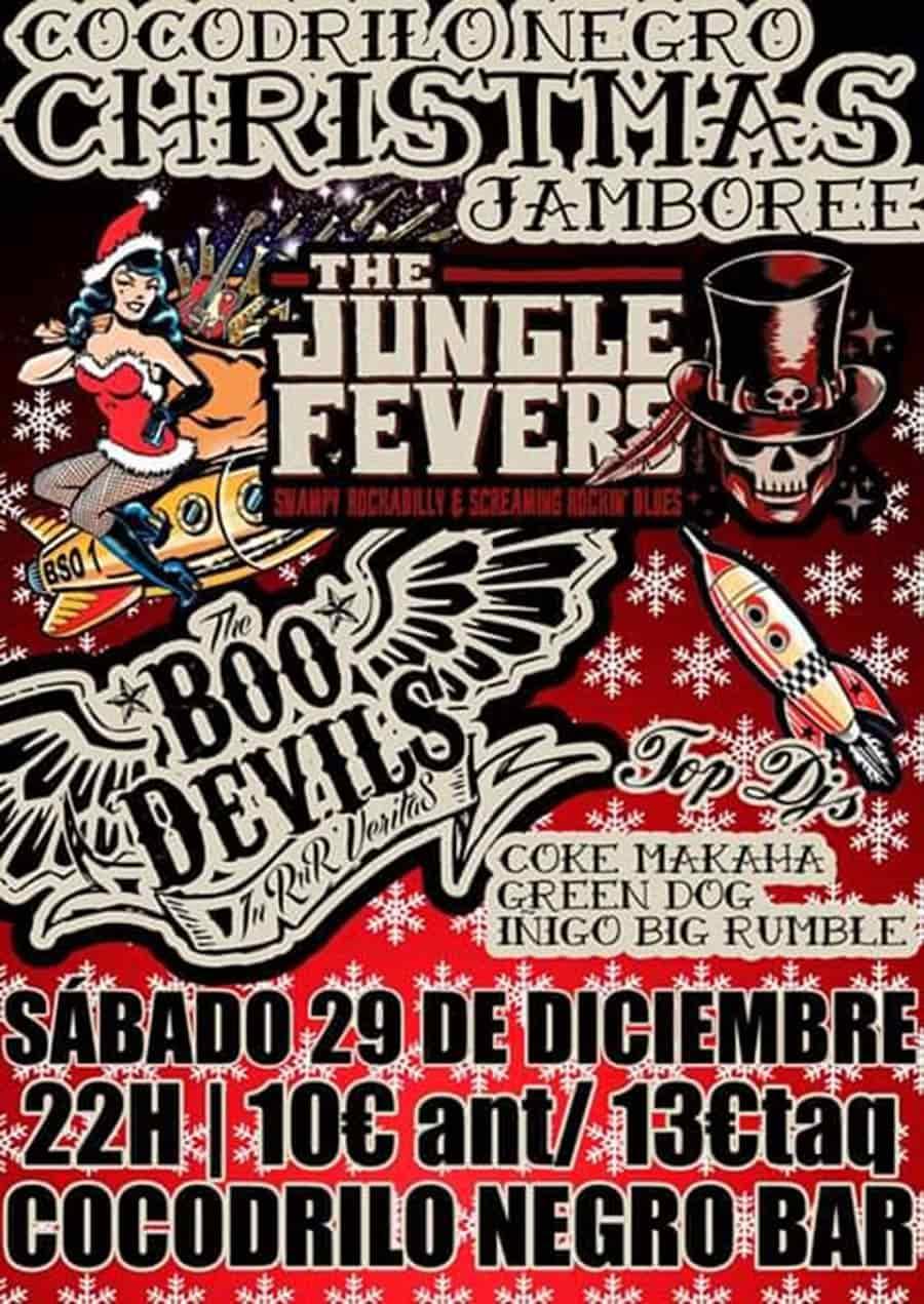 cartel conciertos navidad cocodrilo negro bar ponferrada el bierzo