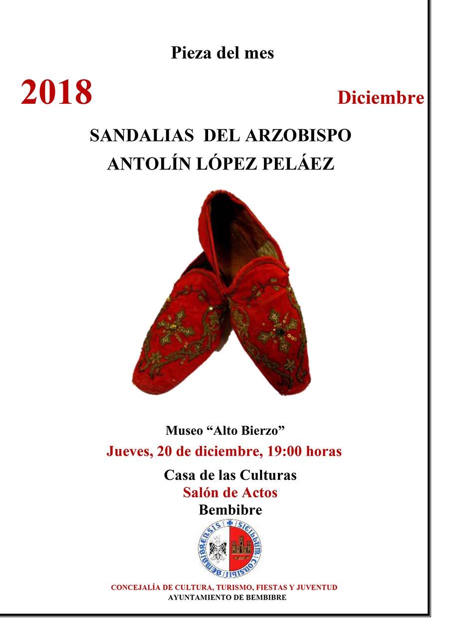 cartel sandalias del arzobispo antolín lopez peláez piez mes diciembre museo alto bierzo bembibre el bierzo
