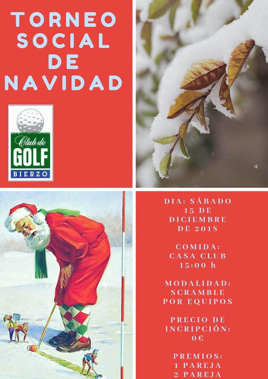 cartel torneo navidad club golf bierzo congosto ponferrada