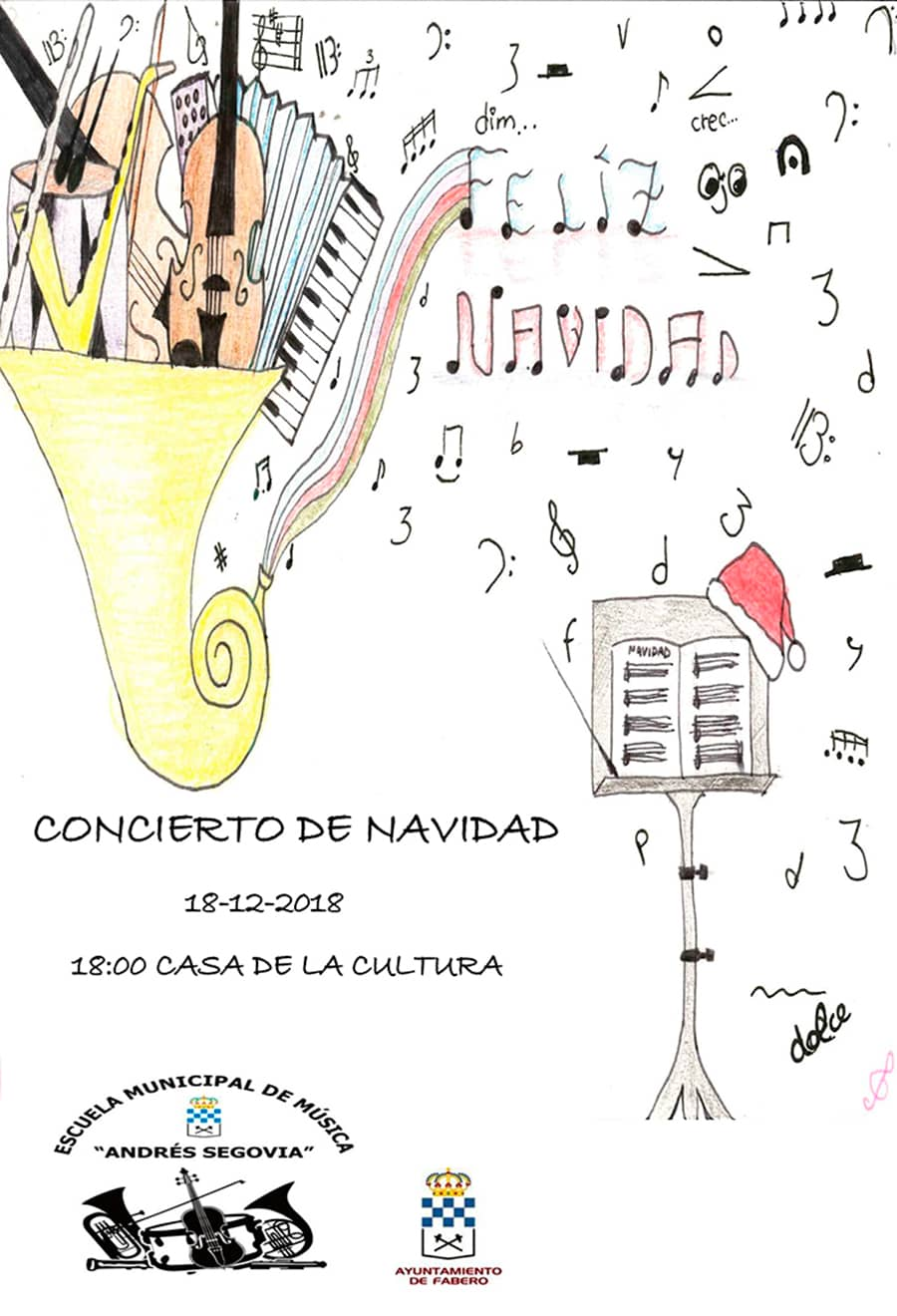cartel concierto navidad 18 escuela municipal de musica fabero el bierzo