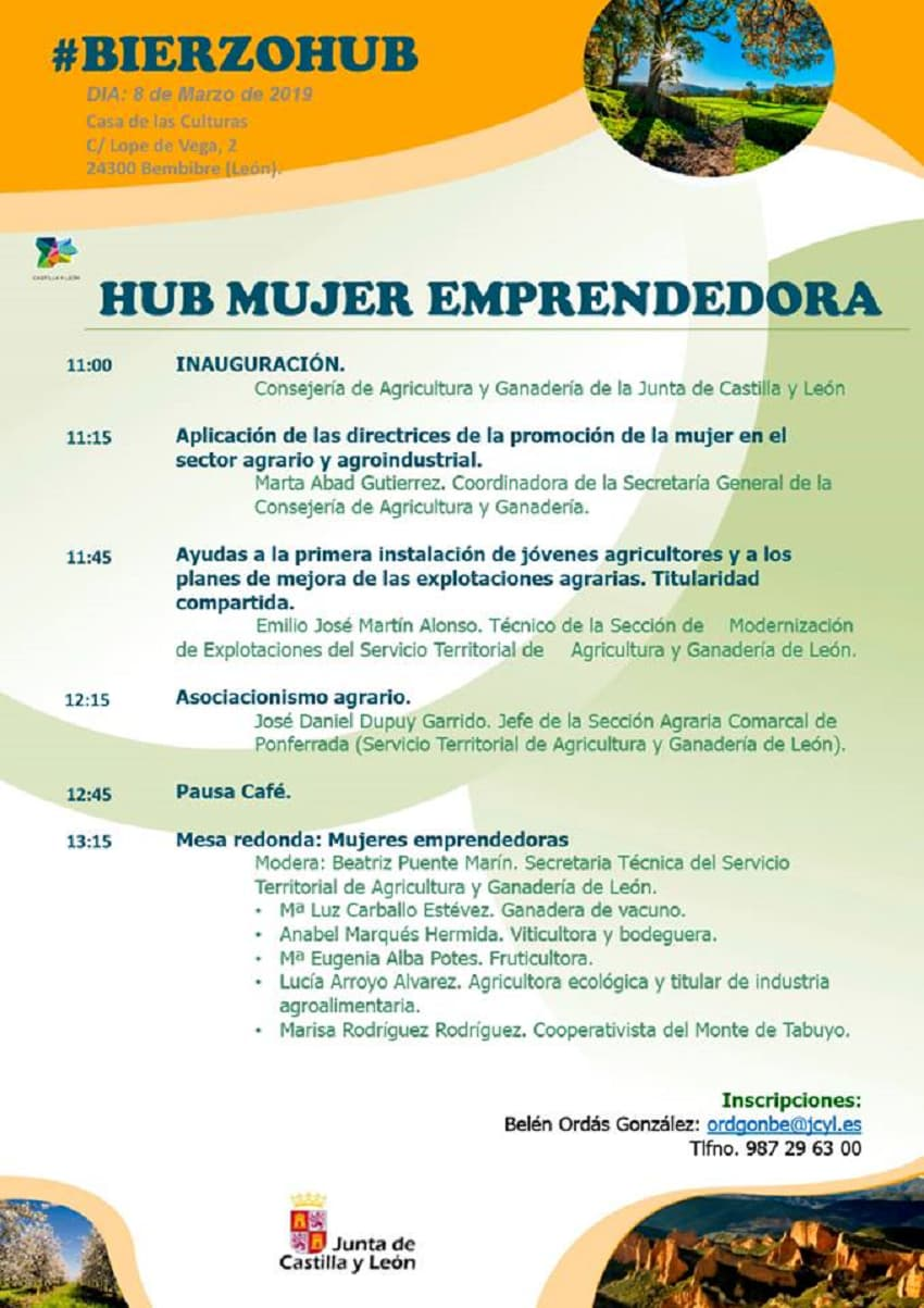 cartel bierzohub 8m mujer agraria bembibre el bierzo