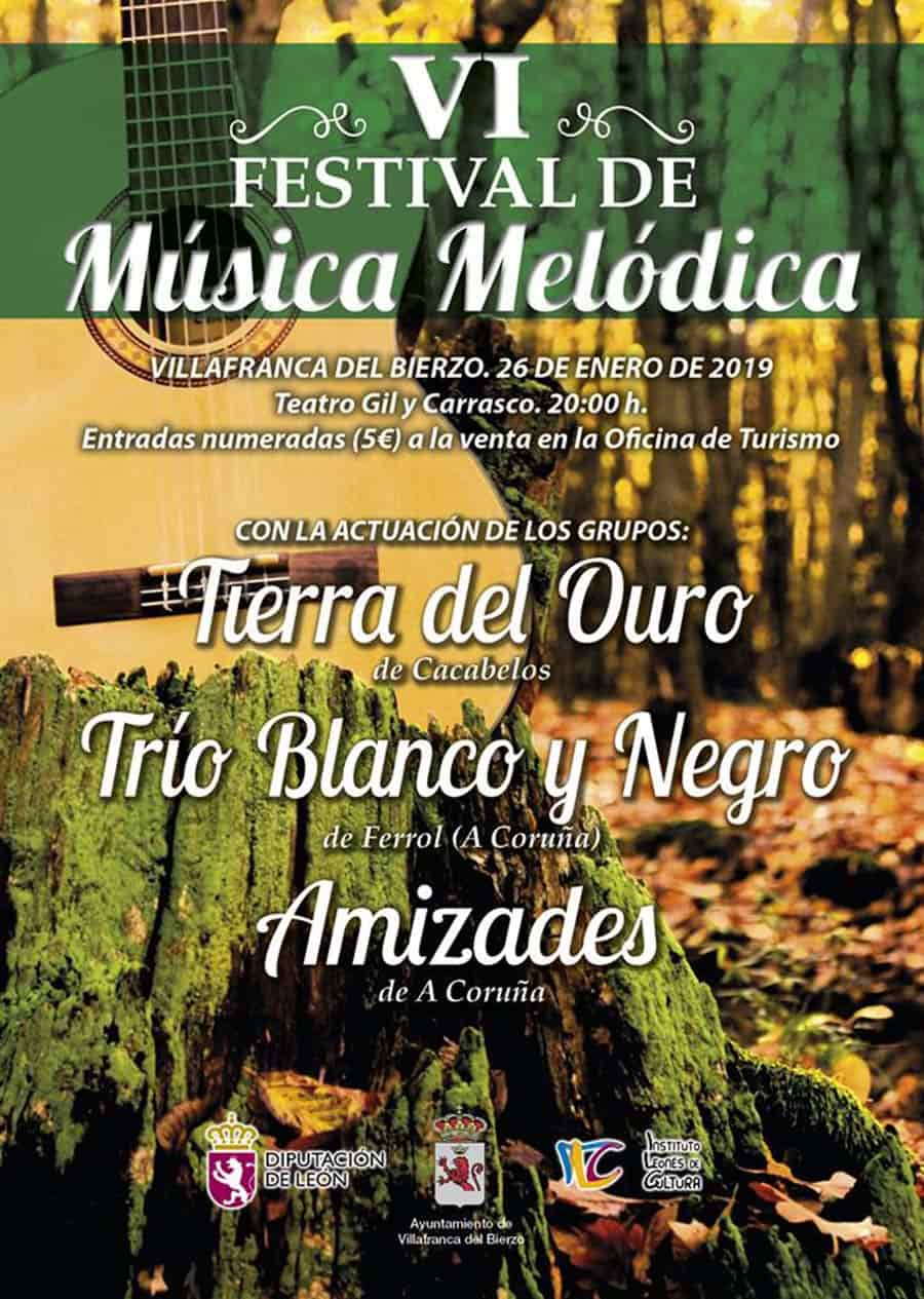 cartel sexto festival musica melodica villafranca del bierzo
