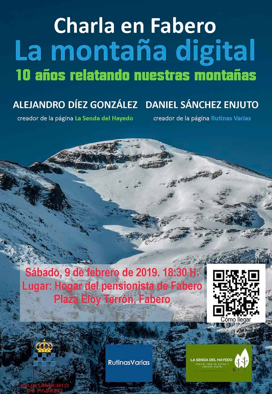 cartel conferencia 10 años montaña digital fabero el bierzo