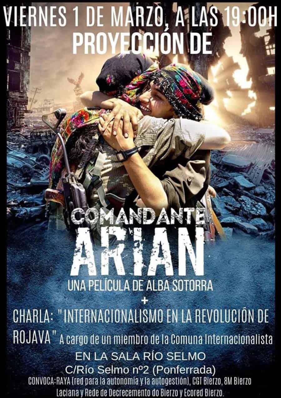 cartel documental comandante arian rio selmo ponferrada el bierzo