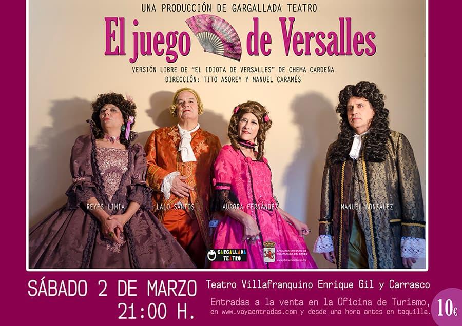 cartel el juego de versalles villafranquino villafranca del bierzo