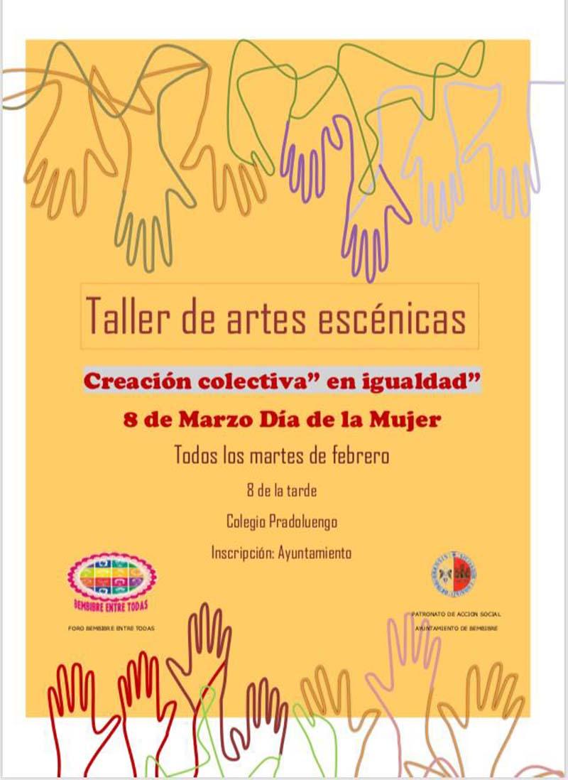 cartel taller artes escenicas foro bembibre entre todas el bierzo