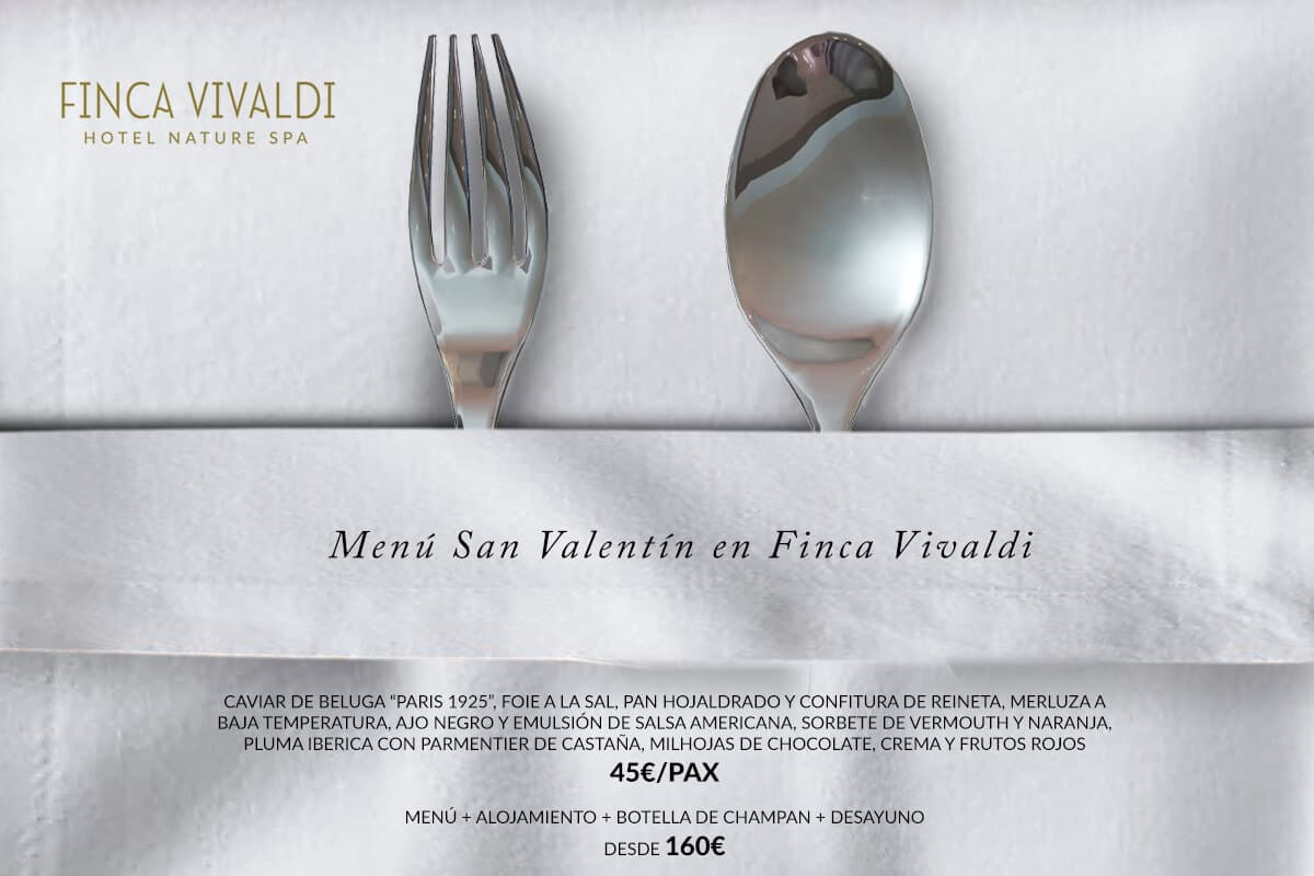 Finca Vivaldi Menú San Valentín