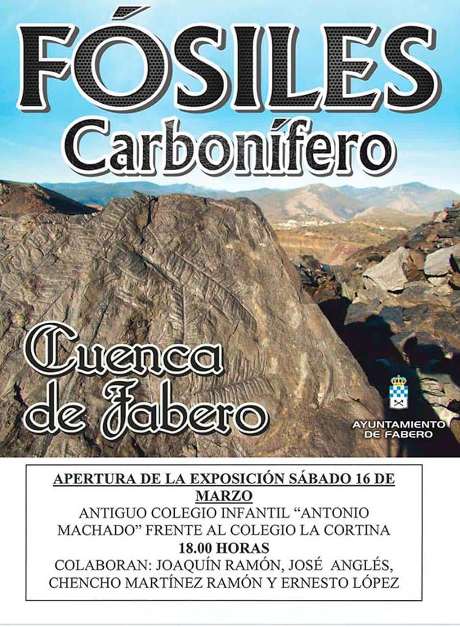 cartel fosiles carbonifero fabero el bierzo