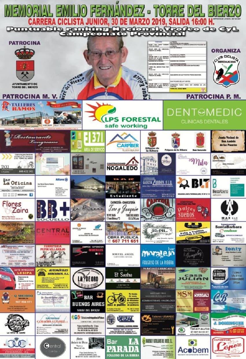 cartel memorial ciclista emilio fernandez torre del bierzo
