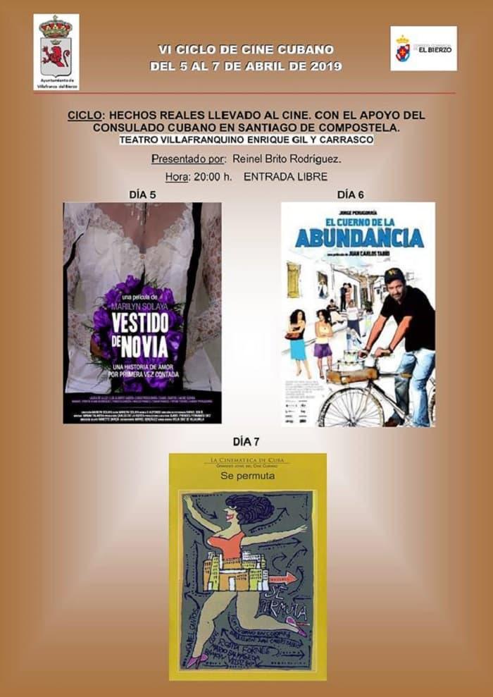programa cartel vi ciclo cine cubano villafranca del bierzo