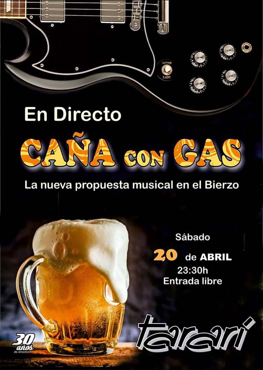 cartel cana con gas concierto tarari ponferrada el bierzo