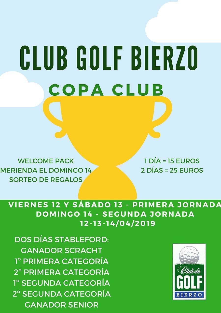 cartel copa club golf bierzo ponferrada
