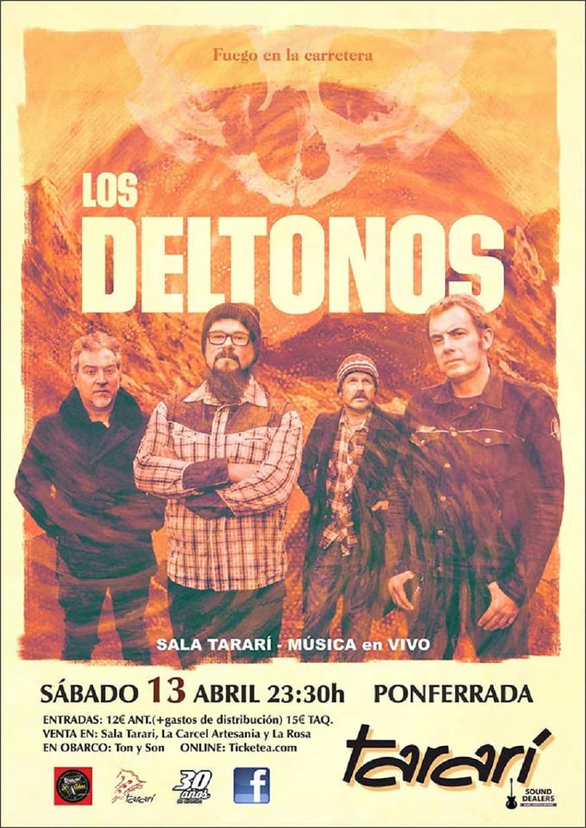 cartel deltonos concierto sala tarari ponferrada el bierzo