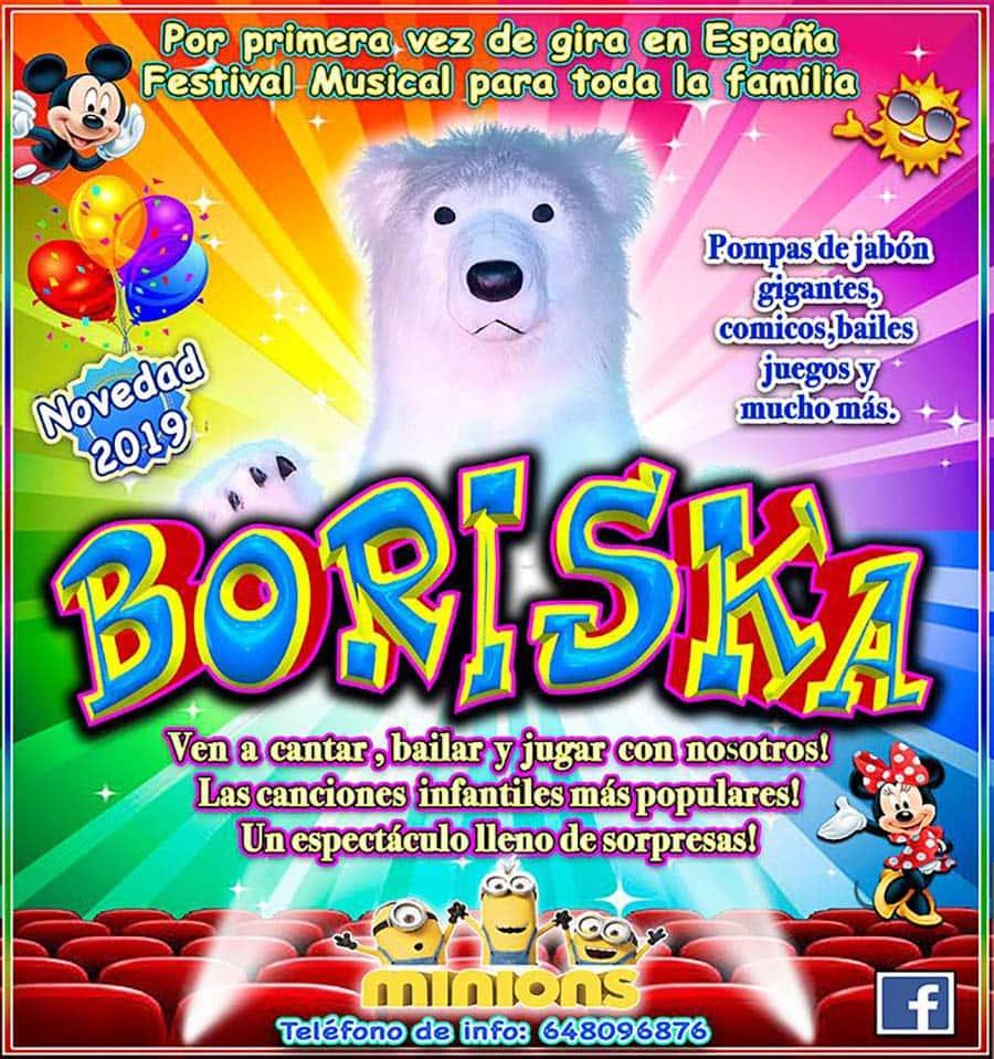 cartel espectaculo infantil boriska fabero el bierzo