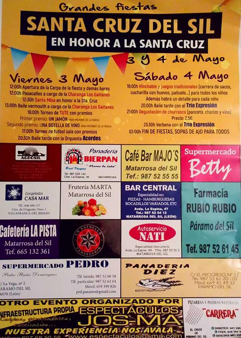 Cartel Fiestas Santa Cruz del Sil