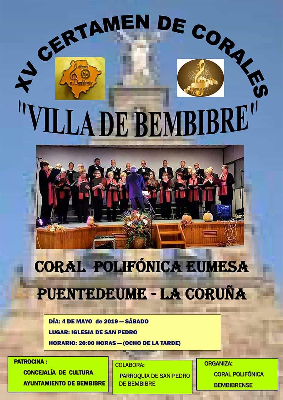cartel certamen corales villa bembibre el bierzo
