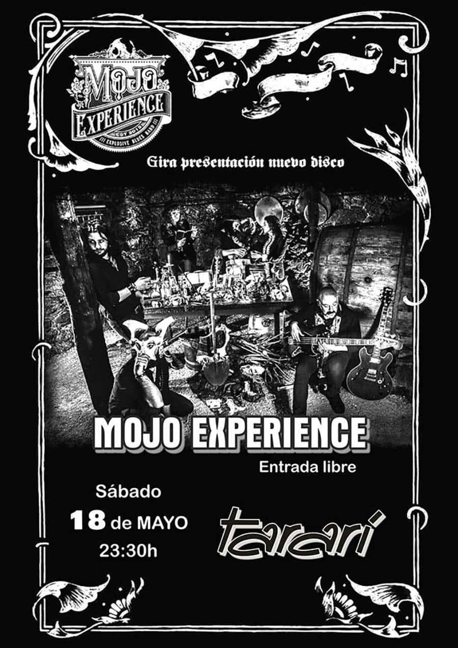 cartel mojo experience concierto sala tarari ponferrada el bierzo