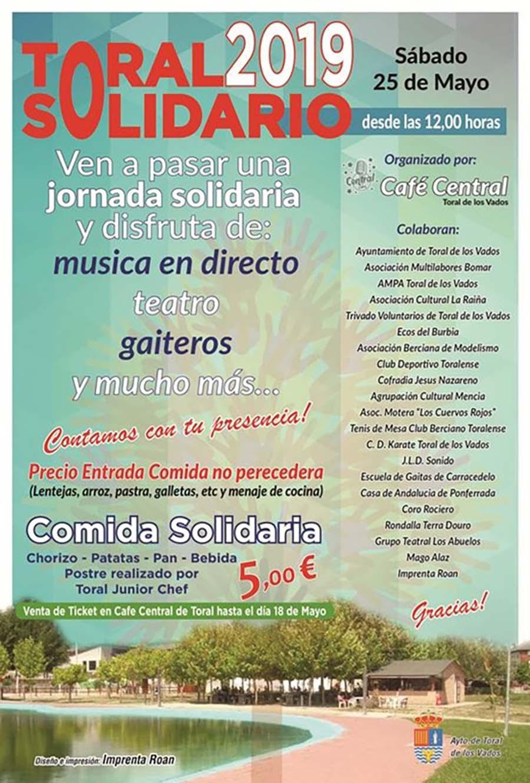 cartel toral solidario toral de los vados el bierzo