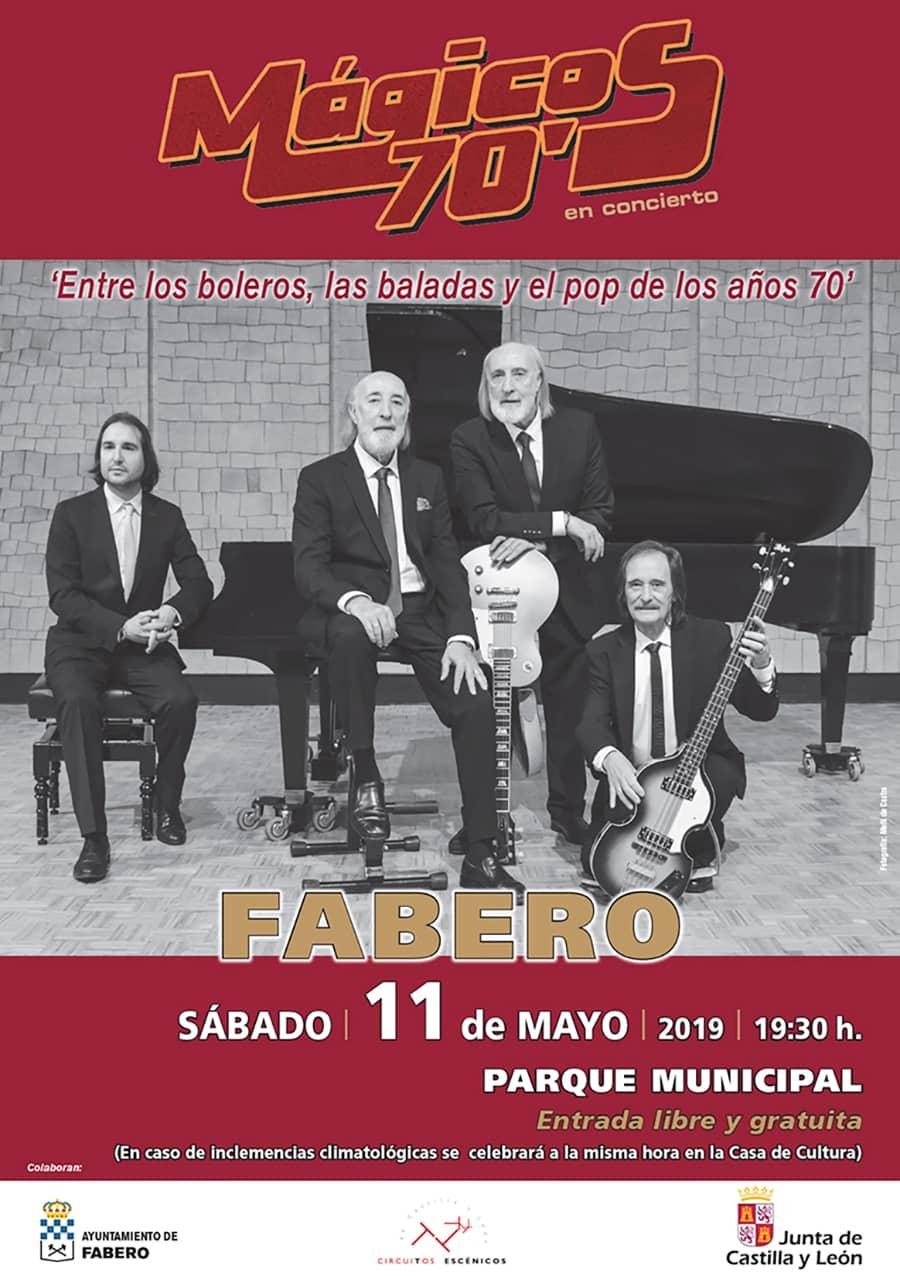 cartel magicos 70 concierto fabero el bierzo