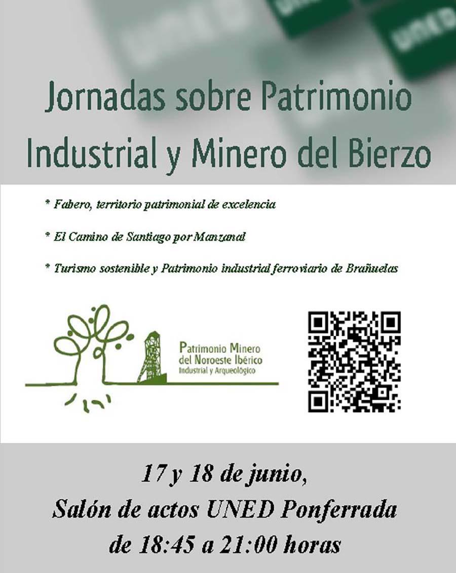 cartel jornadas patrimonio industrial minero el bierzo uned ponferrada