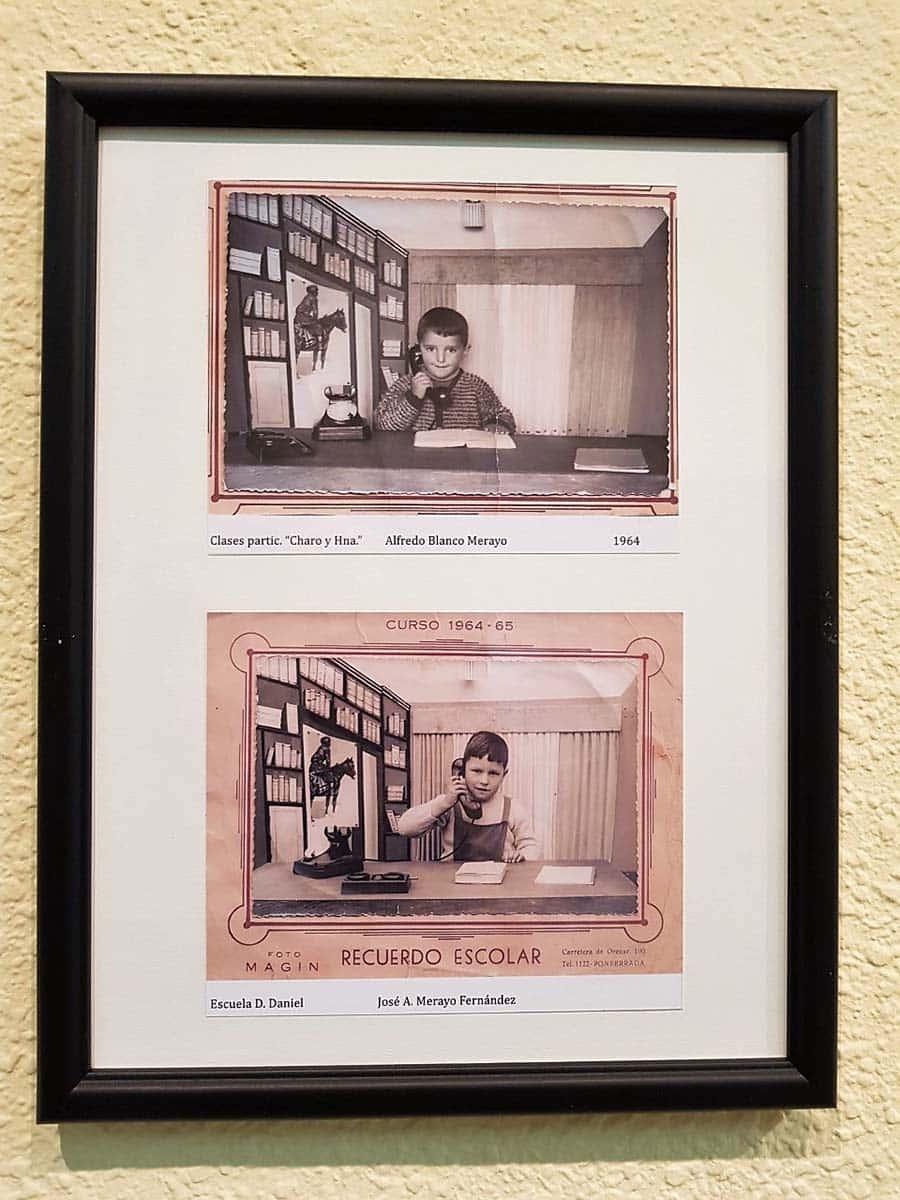 cartel exposicion retratos escolares biblioteca ponferrada el bierzo