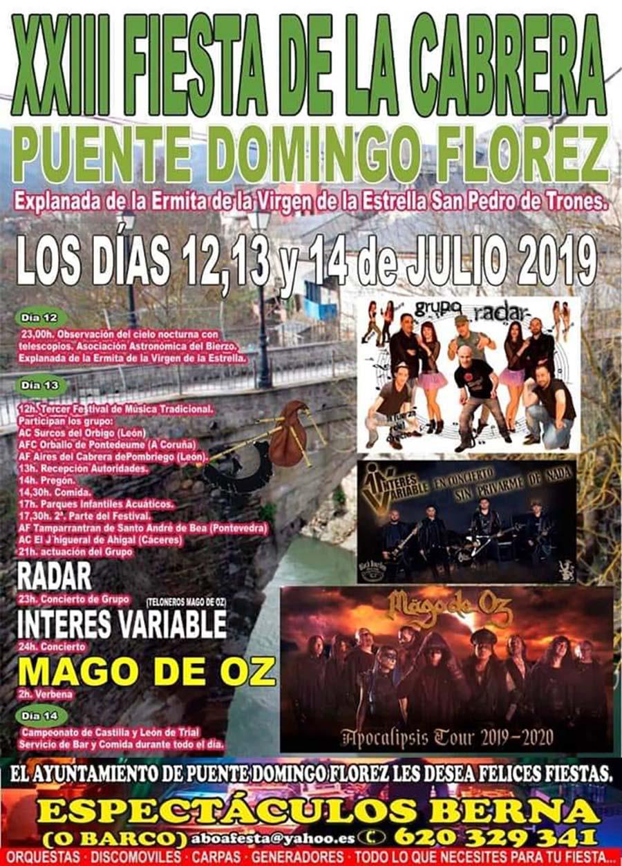 cartel fiestas cabrera puente domingo florez el bierzo