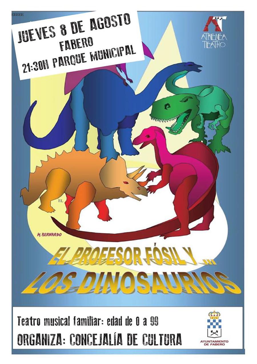 cartel teatro profesor fosil dinosaurios fabero el bierzo