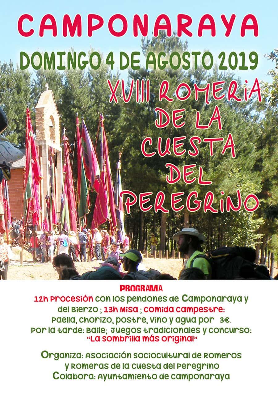 cartel programa romeria cuesta peregrino camponaraya el bierzo