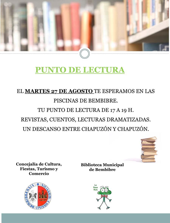 cartel punto lectura biblioteca bembibre el bierzo