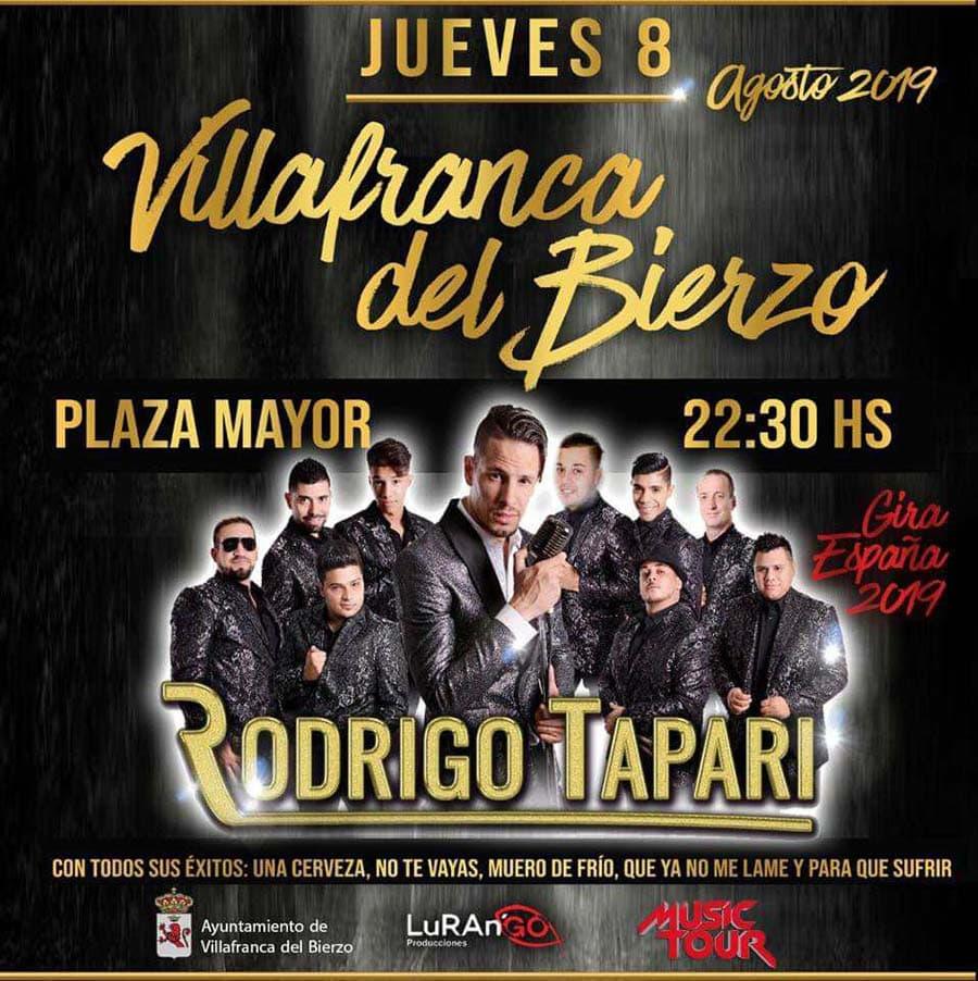 cartel concierto rodrigo tapari cantante ragafa villafranca del bierzo