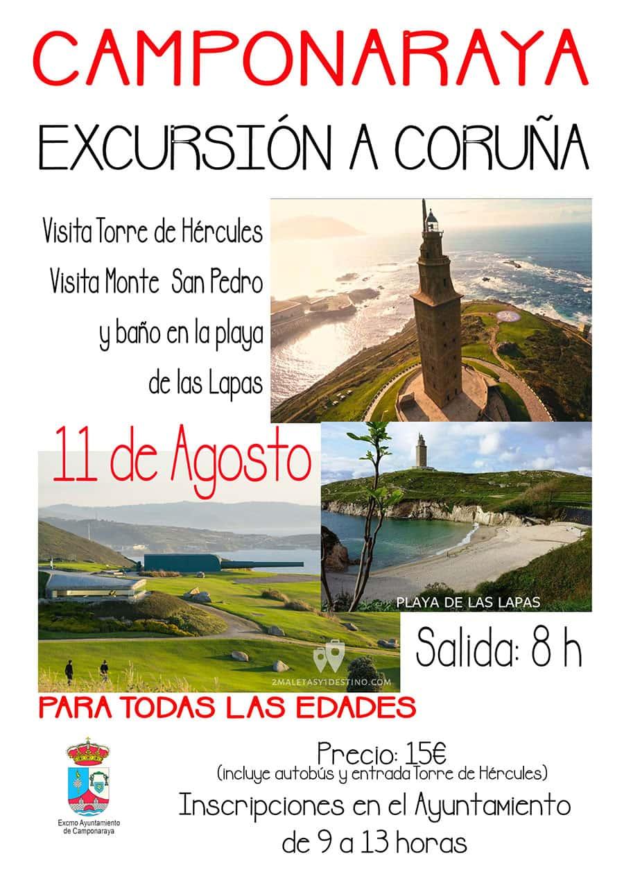 cartel excursion coruna camponaraya el bierzo