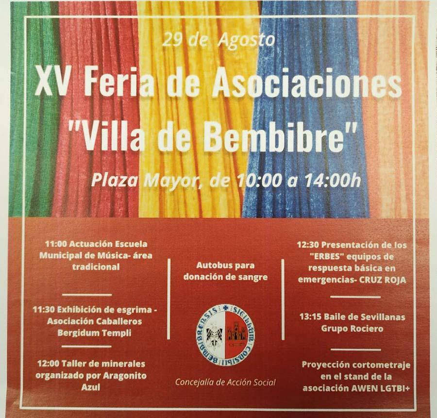 cartel feria asociaciones19 bembibre el bierzo