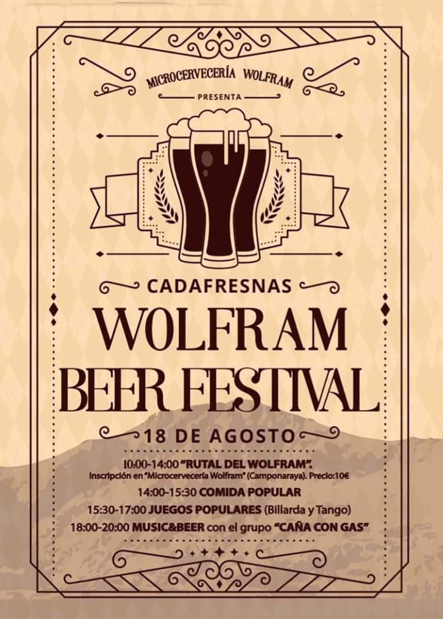 cartel festival cerveza wolfram cadafresnas el bierzo