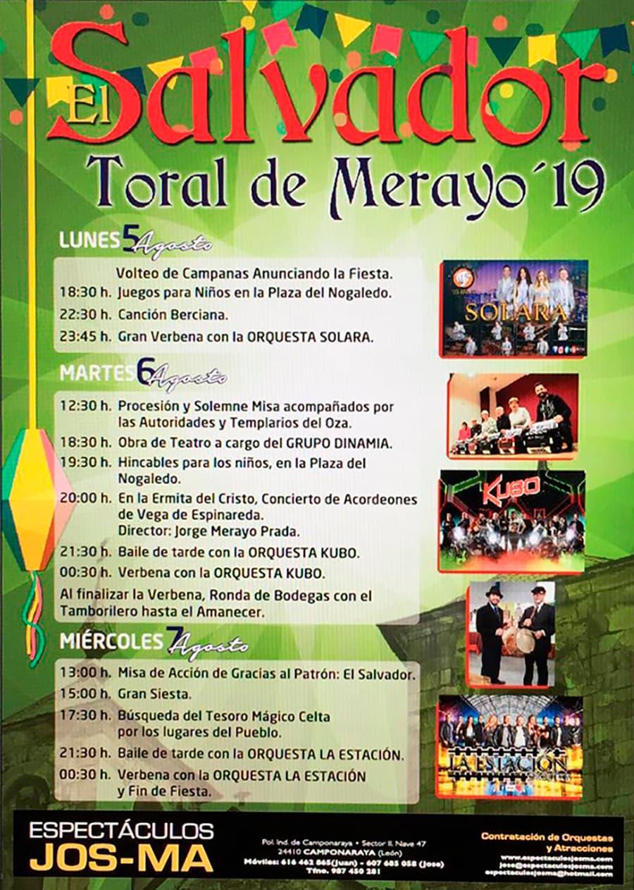 cartel fiestas el salvador19 toral de merayo el bierzo