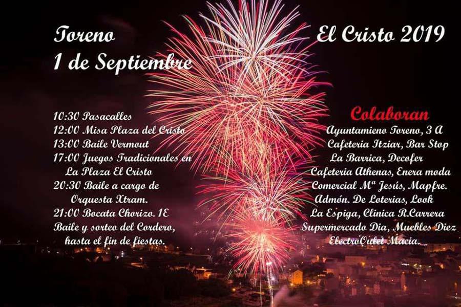 cartel programa fiesta cristo19 toreno el bierzo