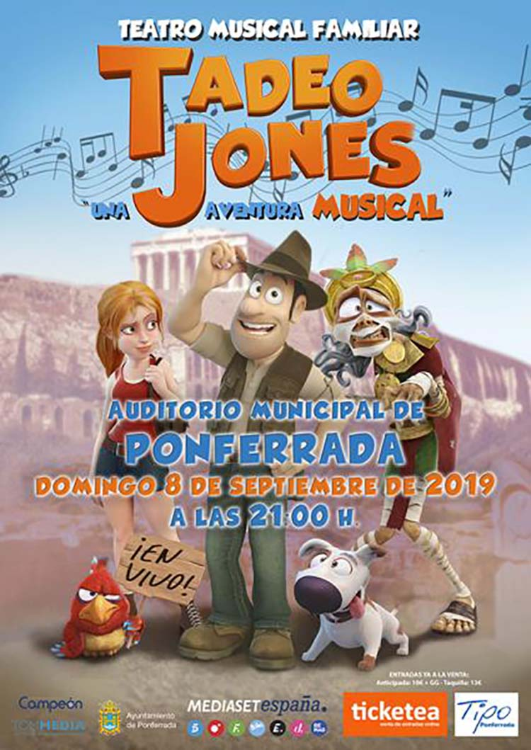 cartel musical tadeo jones encina19 ponferrada