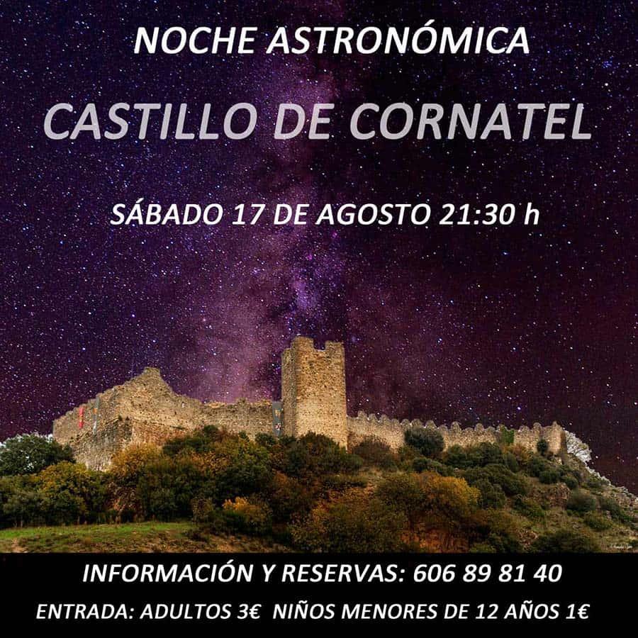 cartel noche astronomica castillo cornatel el bierzo